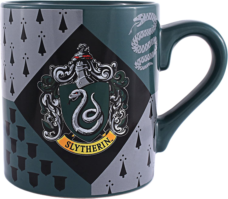 Silver Buffalo HP7032 Harry Potter Slytherin House Crest Ceramic Mug, 14-Ounces