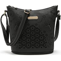 Tibes Special Hollow Pu Leather Crossbody Bag Vintage Small Shoulder Purse