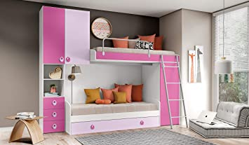 InHouse srls Schlafzimmer-Bügel, Weiß Eschenholz, Malva und ...