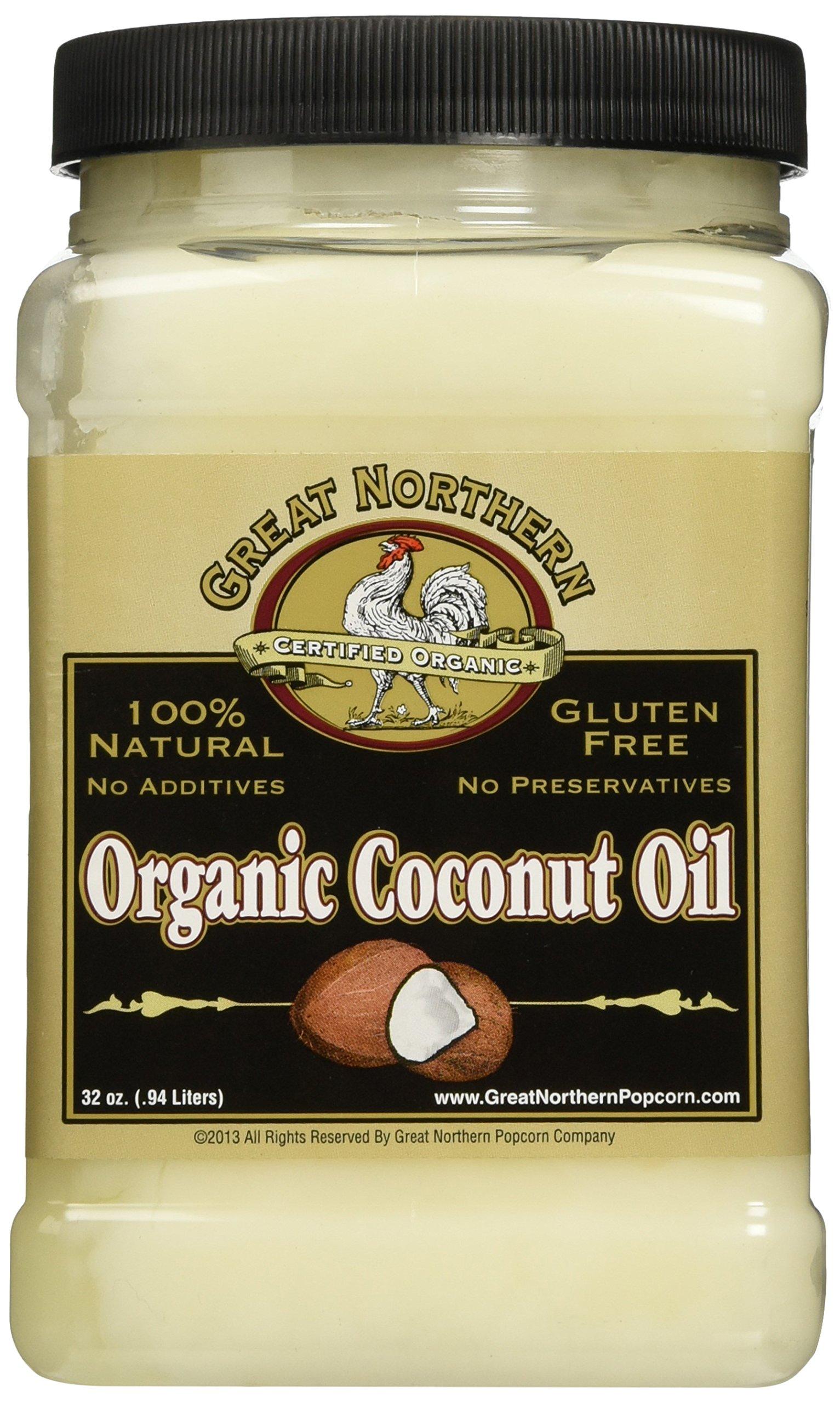Great Northern Popcorn Premium Organic Coconut Oil, 32 Ounces by Great Northern Popcorn Company