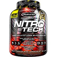 MuscleTech NitroTech Whey Protein Powder, Whey Isolate and Peptides, Chocolate, 4 Pound