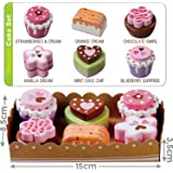Wooden Tea Party Cakes With Selection Card and Sturdy Cardboard Serving Tray