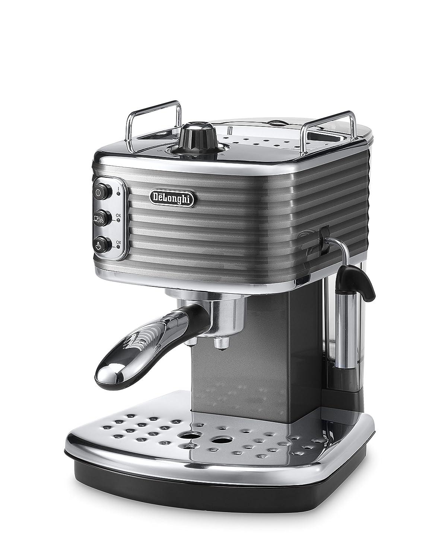 DeLonghi ECZ351.G Cafetera de goteo, Semi-automática, Independiente, 1.4 L, 15 bares, 2 tazas, acero inoxidable, gris: Amazon.es: Hogar