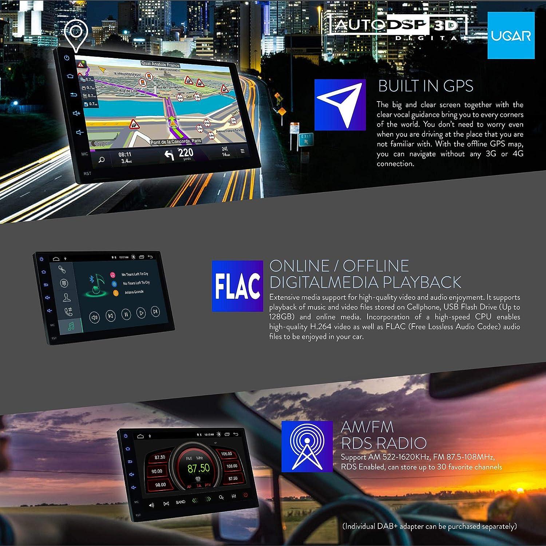 UGAR EX9 7 Android 9.0 DSP Autoradio Plus 11-491 Radio Double DIN Faszie pour Ford Transit Custom Tourneo Custom 2012+