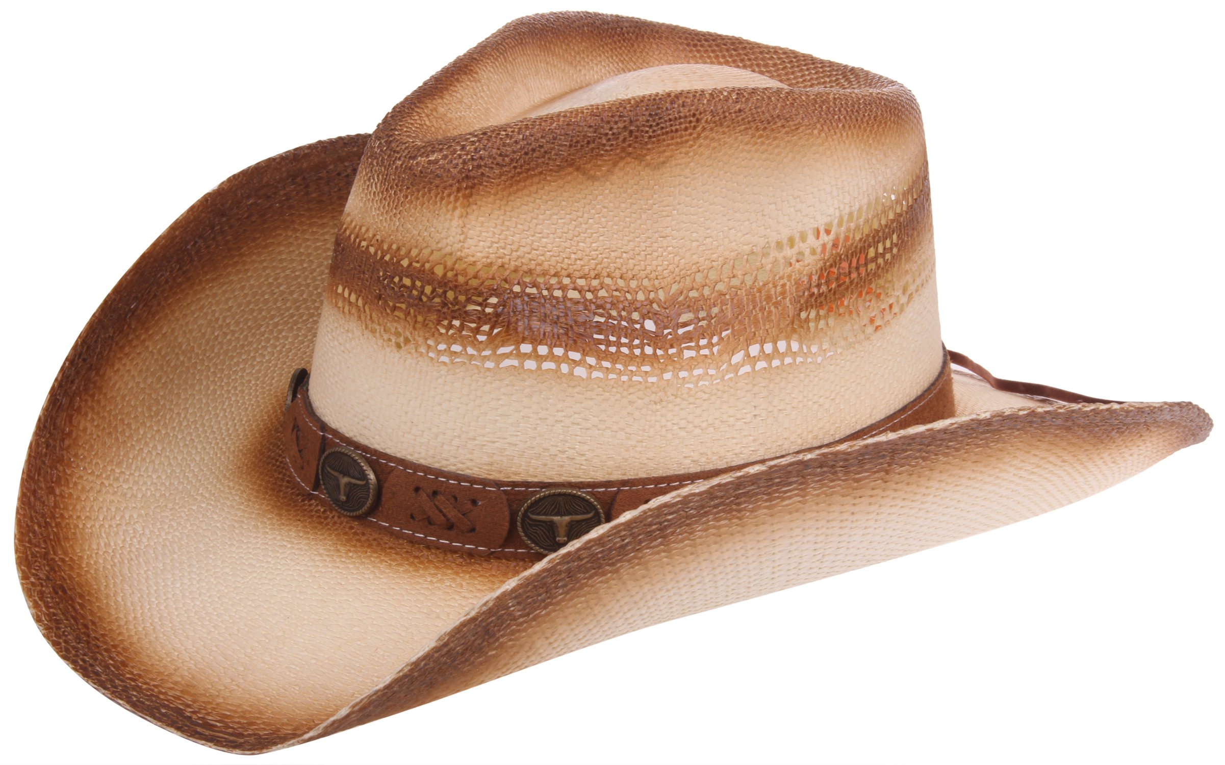 Enimay Western Outback Cowboy Hat Men's Women's Style Straw Felt Canvas Western Bull One Size