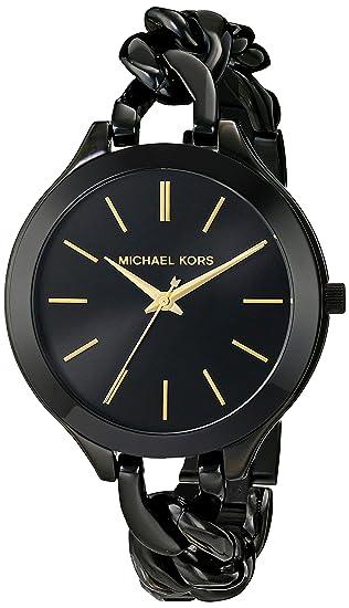 Reloj Michael Kors Slim Runway Mk3317 Mujer Negro: Michael Kors: Amazon.es: Relojes