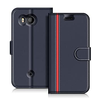 new styles a87ce 73e92 COODIO HTC U11 Case, HTC U11 Leather Case, HTC U11 Wallet Case, Stylish  Blue Magnetic Closure Flip Folio Case Cover [Wallet Stand], Card Slots For  HTC ...