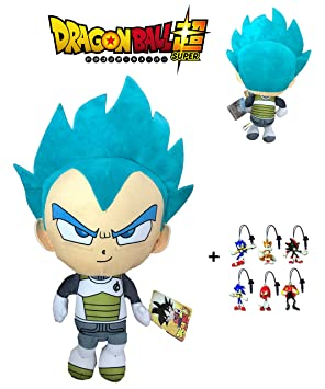 PBP Dragon Ball Super - Peluche Vegeta Ultra Instinto, Pelo Azul 30cm Calidad Super Soft