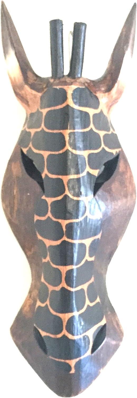 "OMA African Wall Mask Decor Zebra Giraffe African Safari Jungle Tribal Mask Wall Hanging Home Decor Gift - (Classic, 12"")"