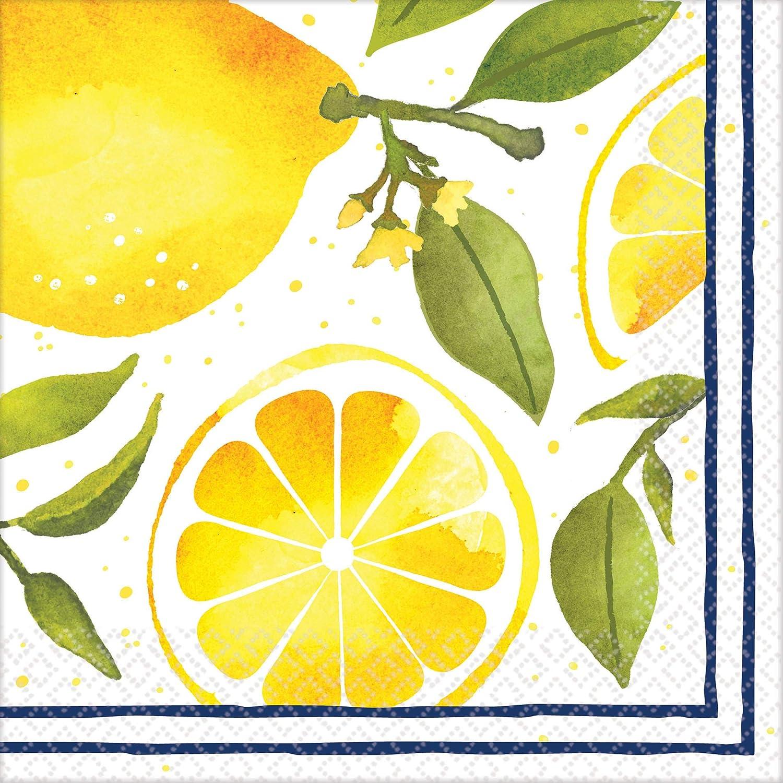 Lemons Luncheon Party Napkins 6.5 x 6.5 16 Ct.
