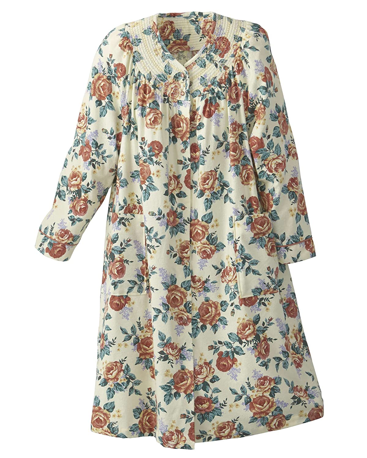 National Floral Flannel Duster - Misses, Womens 4584