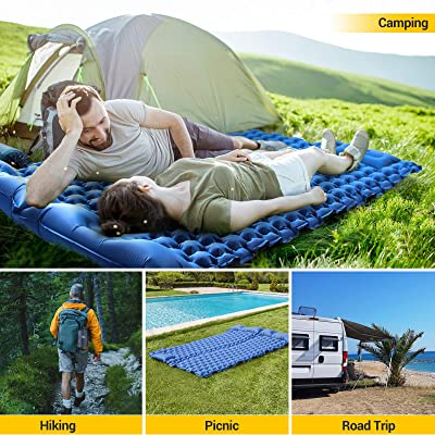 Light and Compact Tent Sleepads Double Sleeping Pad Hiking Self-Driving Tour for Backpacking Inflatable Camping Air Mattress