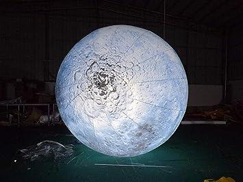 JYNsell - Luna Inflable Luminosa de 2 m/3 m con LED de Mediados de ...