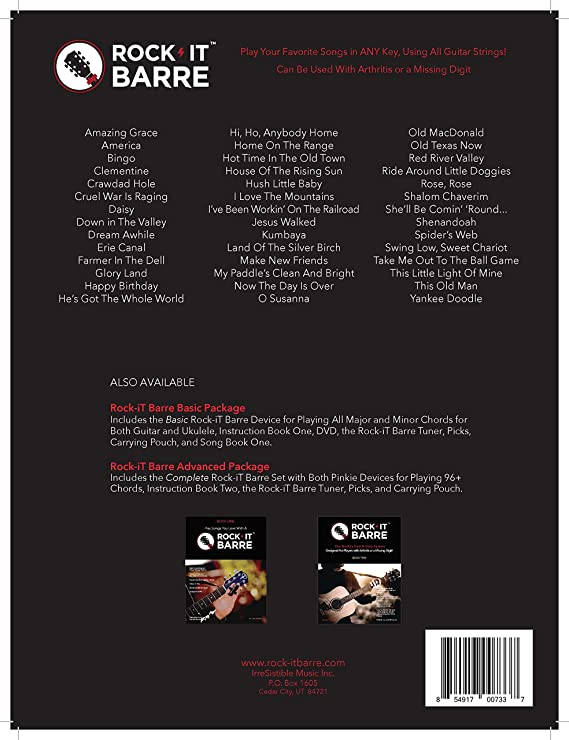 Amazon.com: Rock-iT Barre Guitar & Ukulele Chording Device, Basic ...