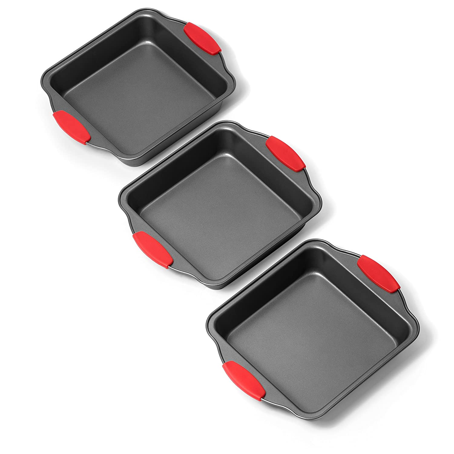 Elite Bakeware 3 Piece Square Baking Pan Set - NonStick Bakeware - Baking Pans Set Elite Kitchenware