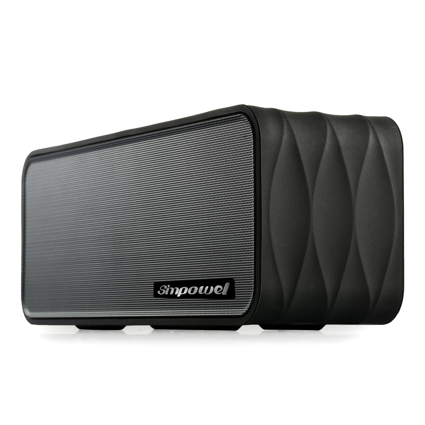 Portable Wireless Speaker with FM by Simpowel | Wireless Speaker System with Radio Micro SD Mp3 Player and NFC- Black