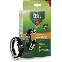 Relec Pulsera, Repelente Mosquitos, Tamaño Único, Pack