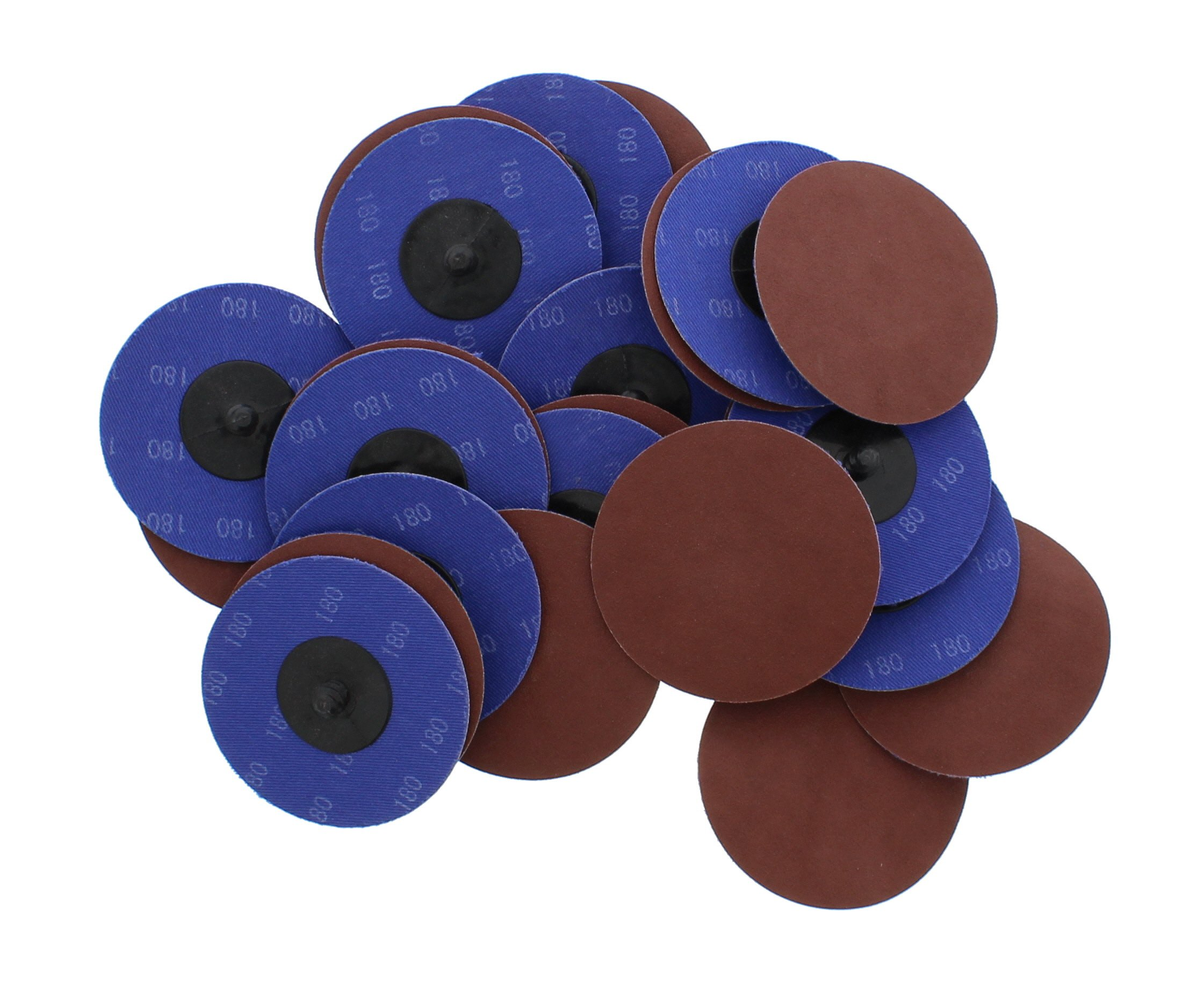 """ABN Aluminum Oxide Sanding Discs 25-Pack, 3"""" Inch, 180 Grit - Metal Sanding Wheels for Surface Prep and Finishing Work"""