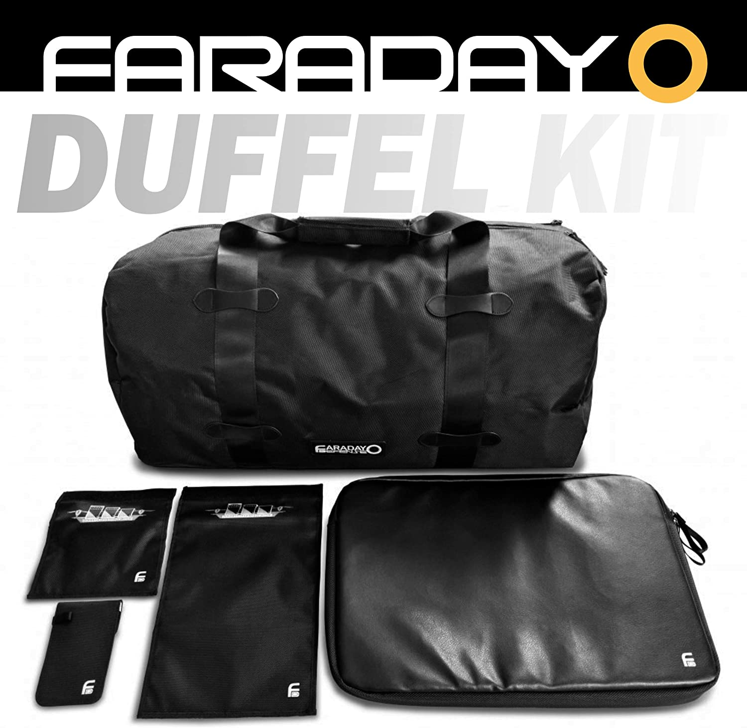 Amazon Com Faraday Defense Complete Emp Emf Rfid Duffel Bag Kit Computers Accessories
