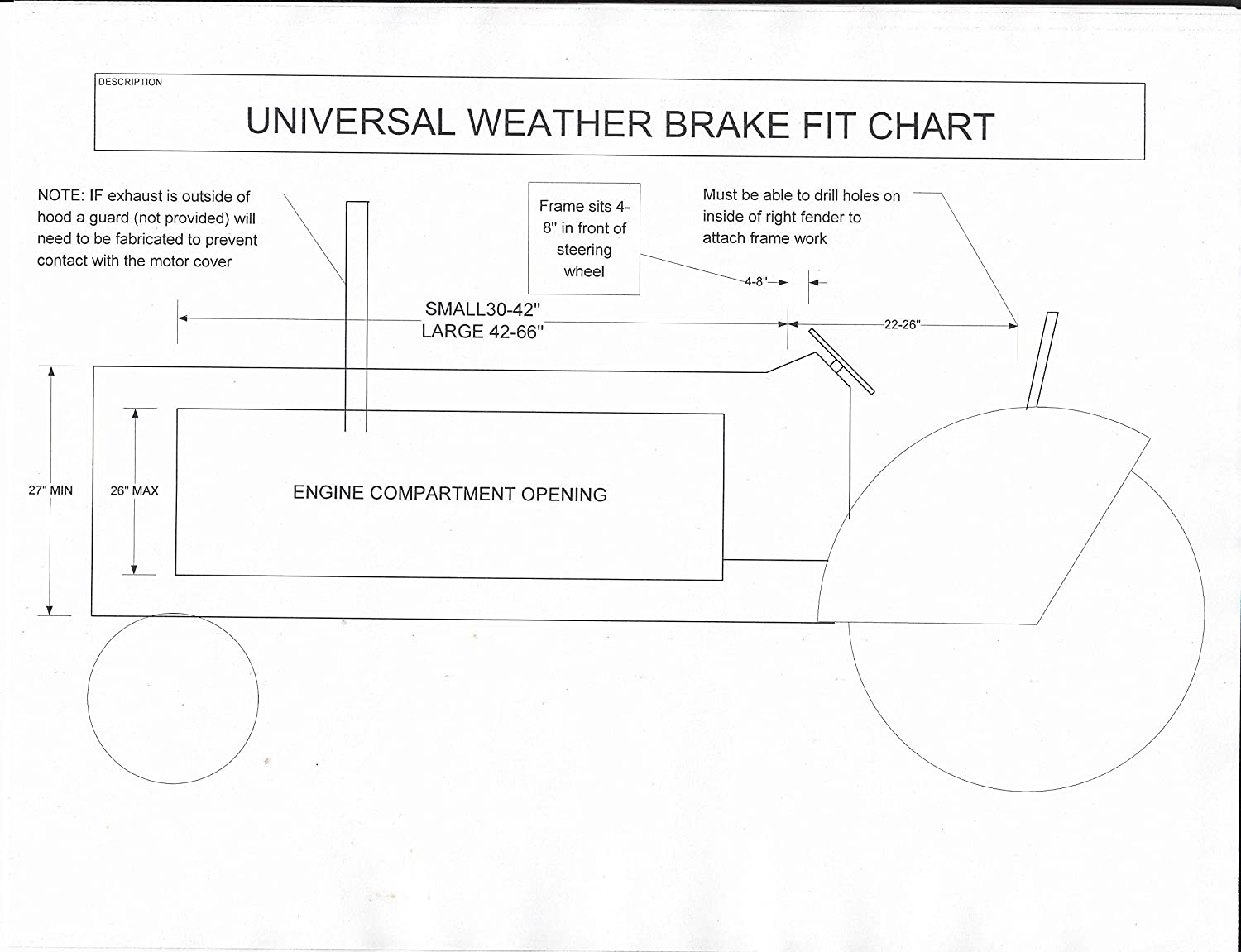 20v w diesel engine diagram amazon com tractor heat houser or weather brake universal small  tractor heat houser or weather brake