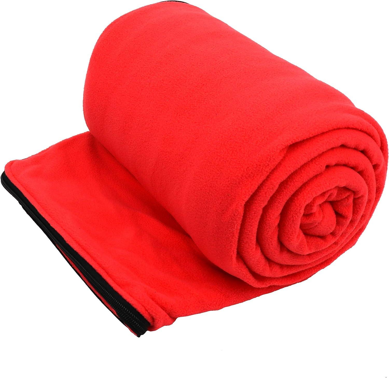Fleece Camping Blanket Sleeping Bag Liner Winter Warm Thermal Under Quilt
