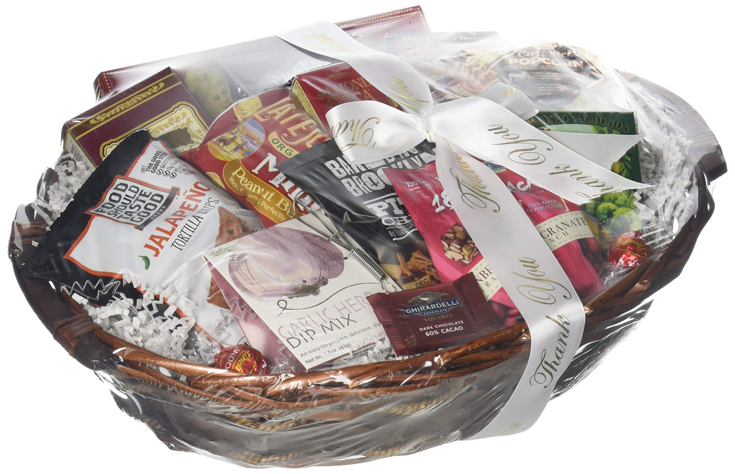 GreatArrivals Snack Attack Thank You Snack Basket, Medium, 4 Pound by GreatArrivals Gift Baskets (Image #1)