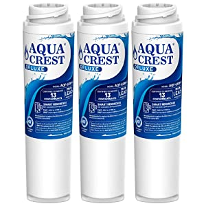 AQUACREST NSF 401,53&42 Certified GSWF Refrigerator Water Filter, Compatible with GE GSWF SmartWater 238C2334P001, Kenmore 46-9914, 469914, 9914 (Pack of 3)
