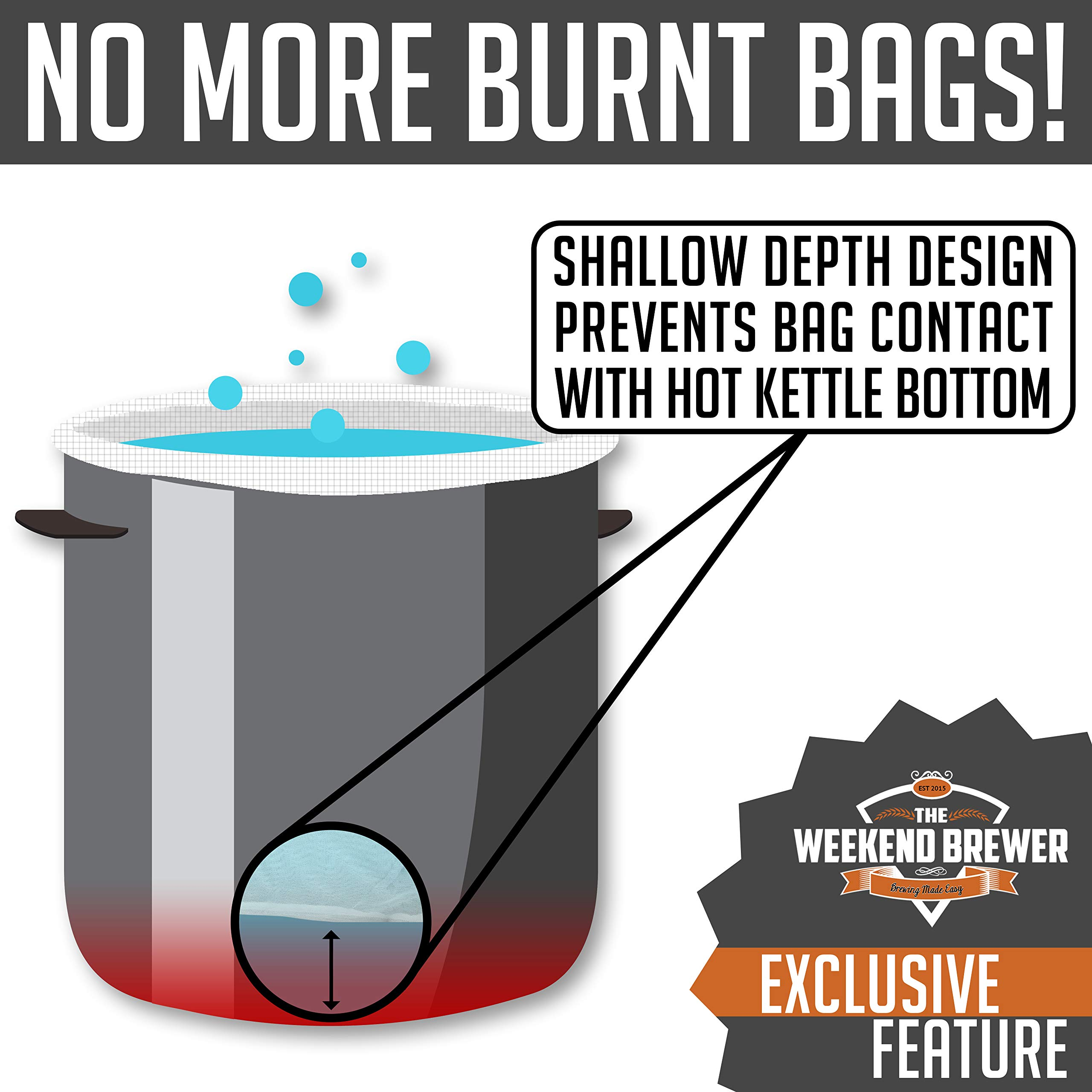 2pk Extra Large (26'' x 22'') Reusable Drawstring Straining Brew in a Bag by The Weekend Brewer (Image #6)