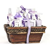 Amazon Price History for:Green Canyon Spa Luxury Wicker Basket Gift Set in Lavender, 8 Pieces Premium Bath and Body Spa Products in Handcrafted Basket