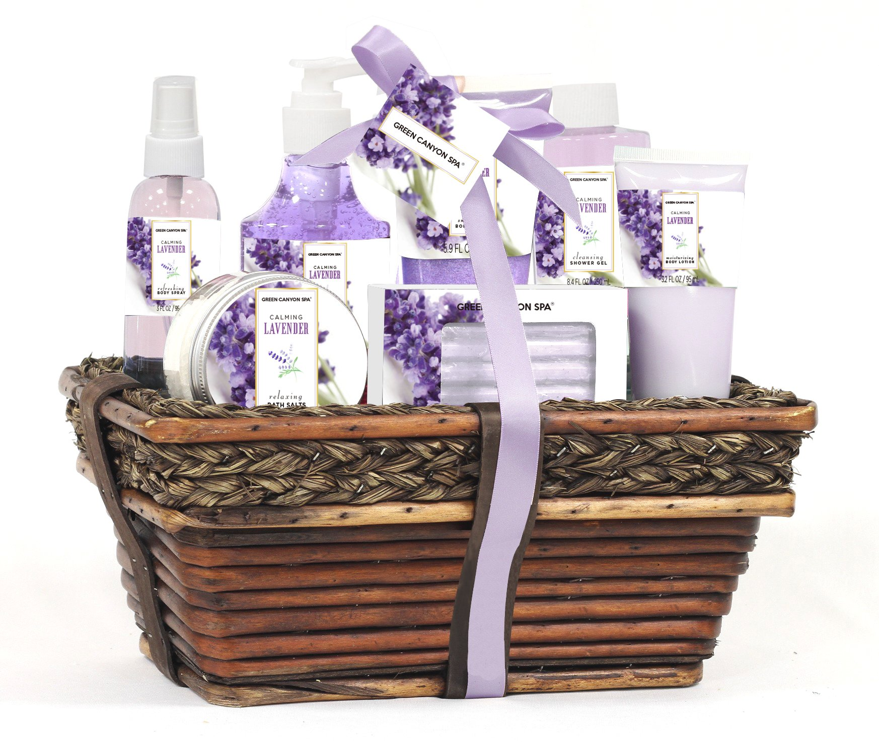 Lavender Ultimate Spa Gift Basket By Broadwaybasketeers Com: Amazon.com : Gift Baskets For Women, Green Canyon Spa Gift