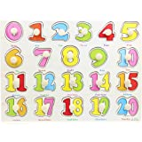 You&Xi Classic Wooden Numbers Puzzle Bundle Board