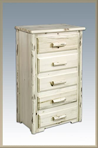 Montana Woodworks Collection 5 Drawer Chest of Drawer