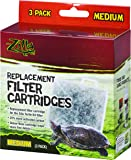 Zilla Basking Platform Replacement Filter Cartridges for Aquarium, 3 Pack