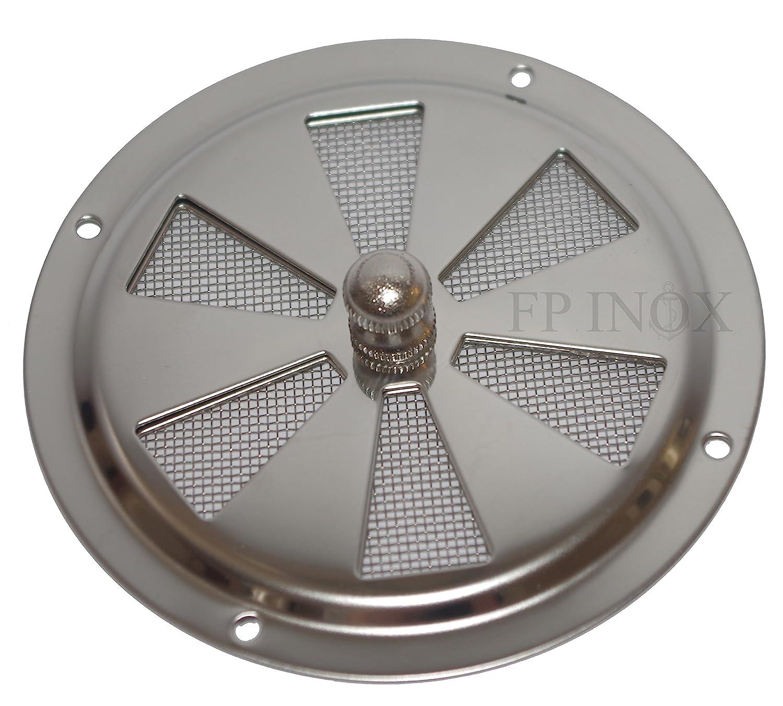 Rejilla de ventilació n redonda 102 mm Con Mosquitera inoxidable 316 –  A4 FP INOX