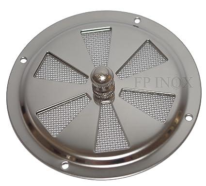 Rejilla de ventilación redonda 102 mm Con Mosquitera inoxidable 316 – A4