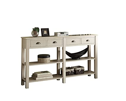 Amazoncom Acme Furniture 97250 Galileo 72 Console Table Cream