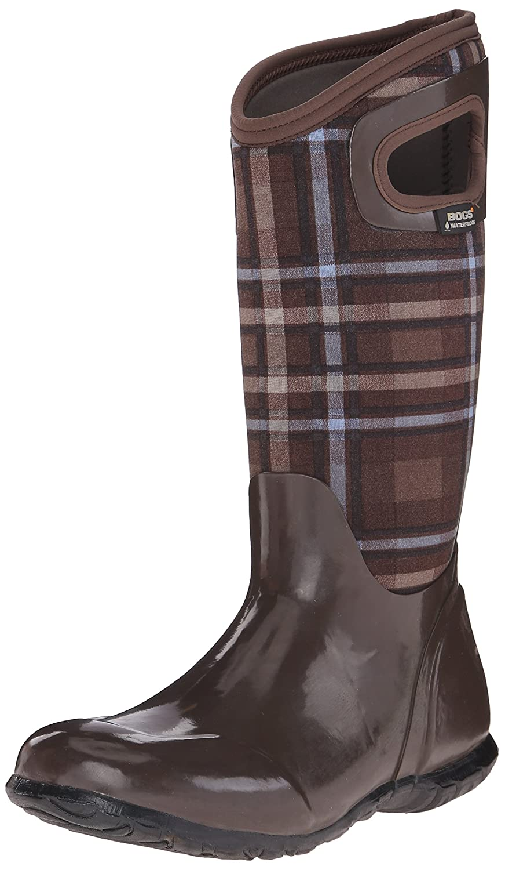 Bogs Women's North Hampton Plaid Waterproof Insulated Boot B00QMQKYIO 11 B(M) US|Brown/Multi
