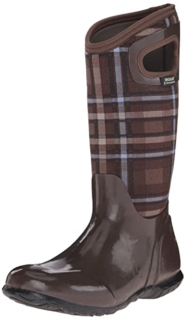 Bogs Womens North Hampton Plaid All Weather Rain Boot      Brown Multi      6 M
