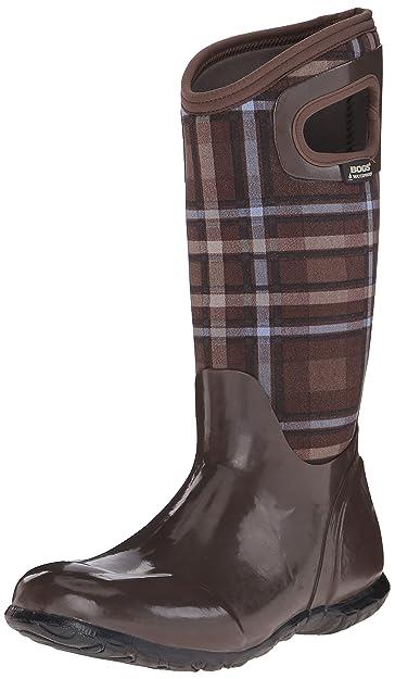 Bogs Women's North Hampton Plaid All Weather Rain Boot,Brown/Multi,6 M