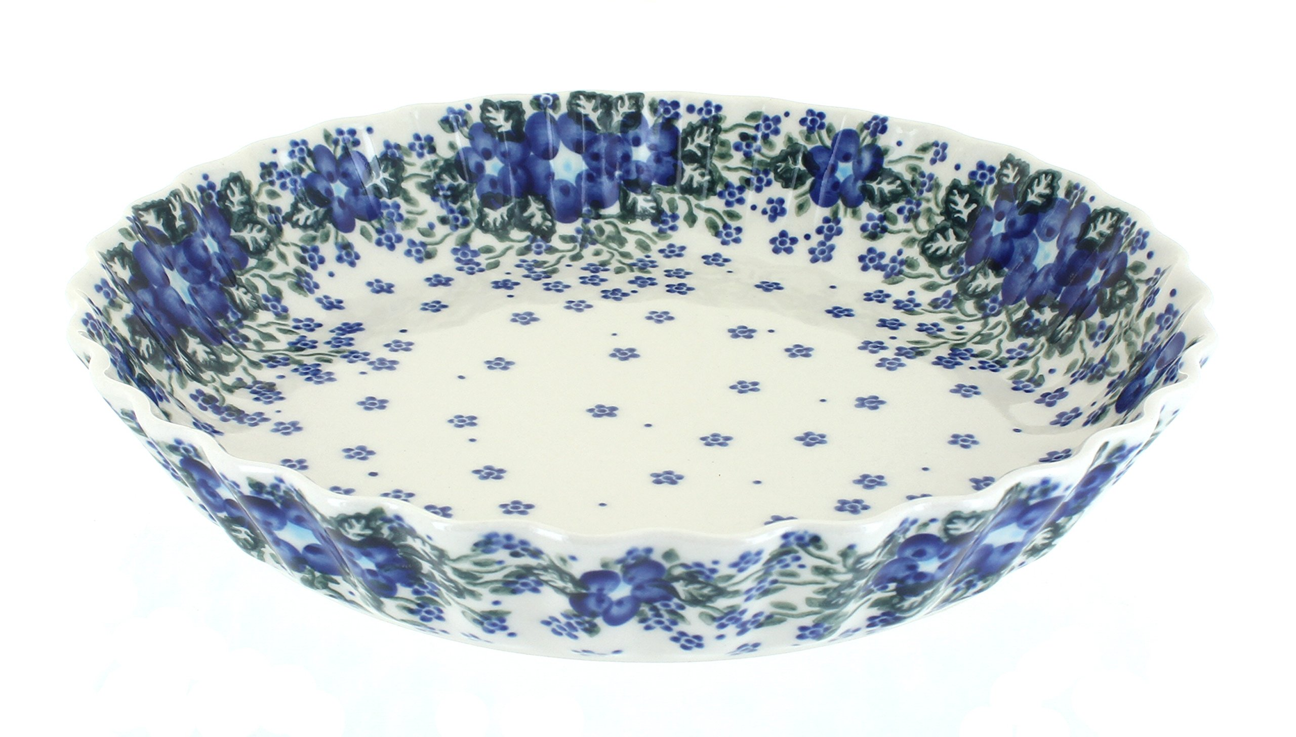 Blue Rose Polish Pottery Melanie Pie Plate by Blue Rose Pottery