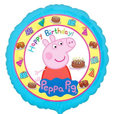 "Peppa Pig Bday Balloon 18"": Toys & Games"