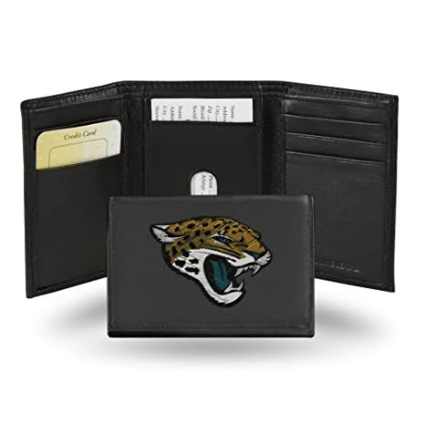 ed1cdd1f8 Image Unavailable. Image not available for. Color  Rico Industries NFL  Jacksonville Jaguars Embroidered Leather Trifold Wallet