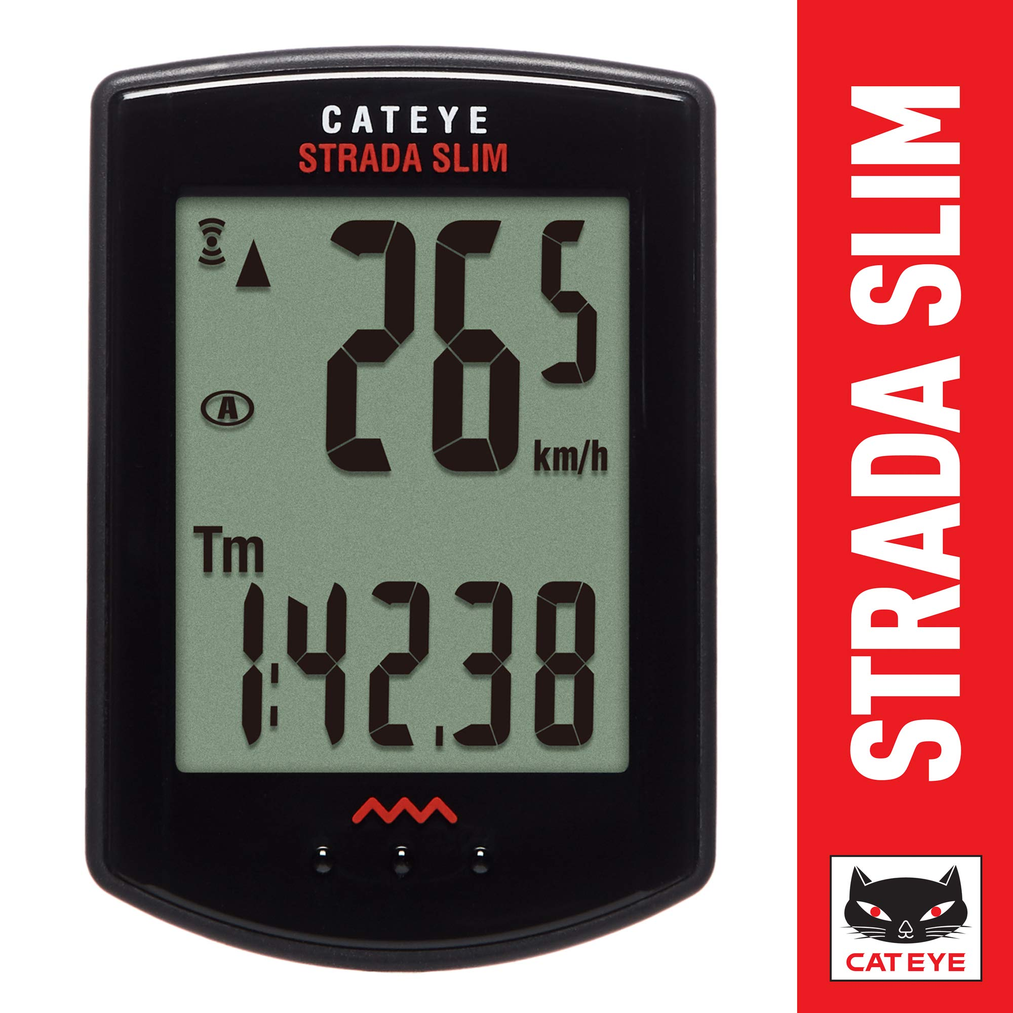 CAT EYE - Strada Slim Wireless Bike Computer, Black by CAT EYE