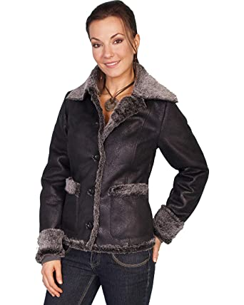 fb2da024ef Scully Women s Faux Fur Trim Jacket at Amazon Women s Coats Shop