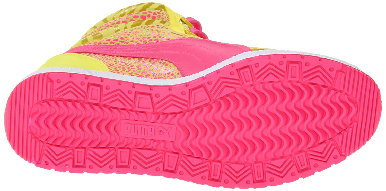 PUMA Sky Wedge Sneaker, Fluorescent Yellow, Sz 8?