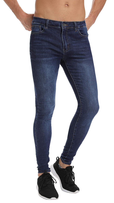 groß auswahl neue hohe Qualität niedrigerer Preis mit Men's Skinny Jeans, Stretch Slim Jeans for Men Super Skinny Fit Fashion  Denim Pants Jeans