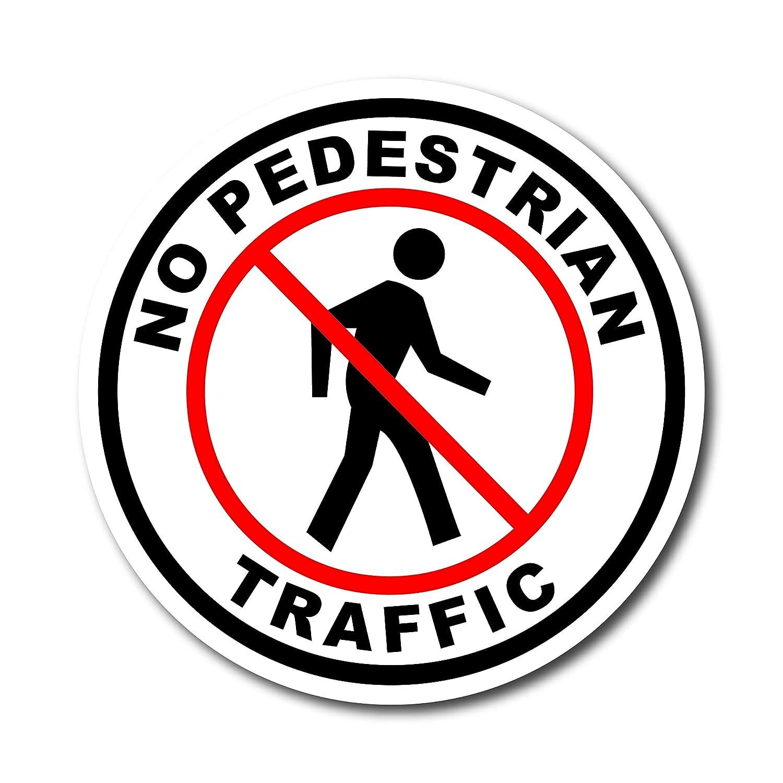 Amazon.com: Cartel de círculo, sin tráfico de peatones., 12 ...