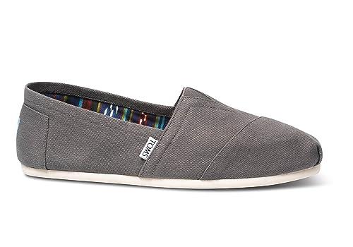 Toms Classic Ash Blanco Hombres Canvas Alpargatas Zapatos Slipons: Amazon.es: Zapatos y complementos