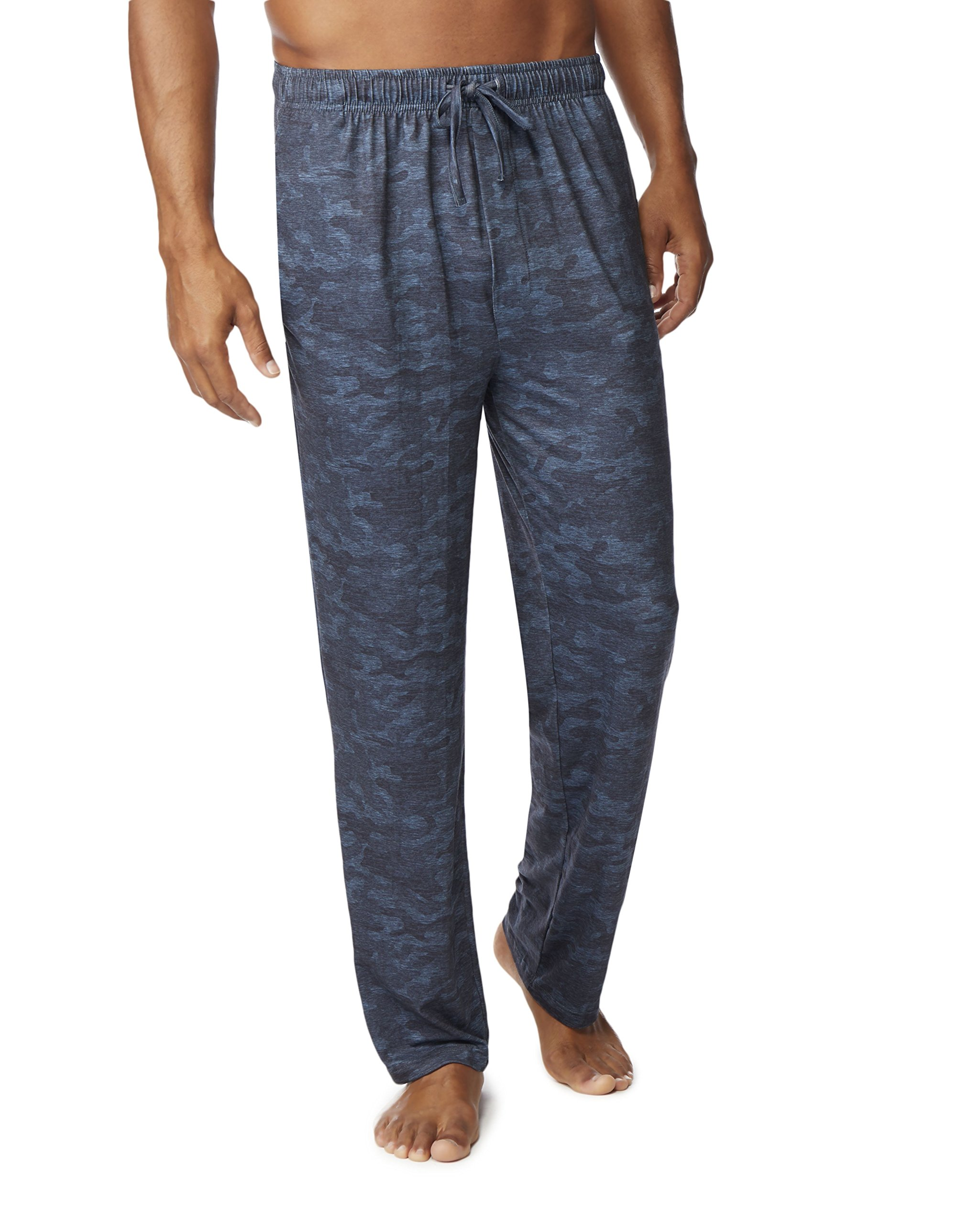 32 DEGREES Mens Cool Knit Wicking Lounge Pant, Midnight CAMO, Small