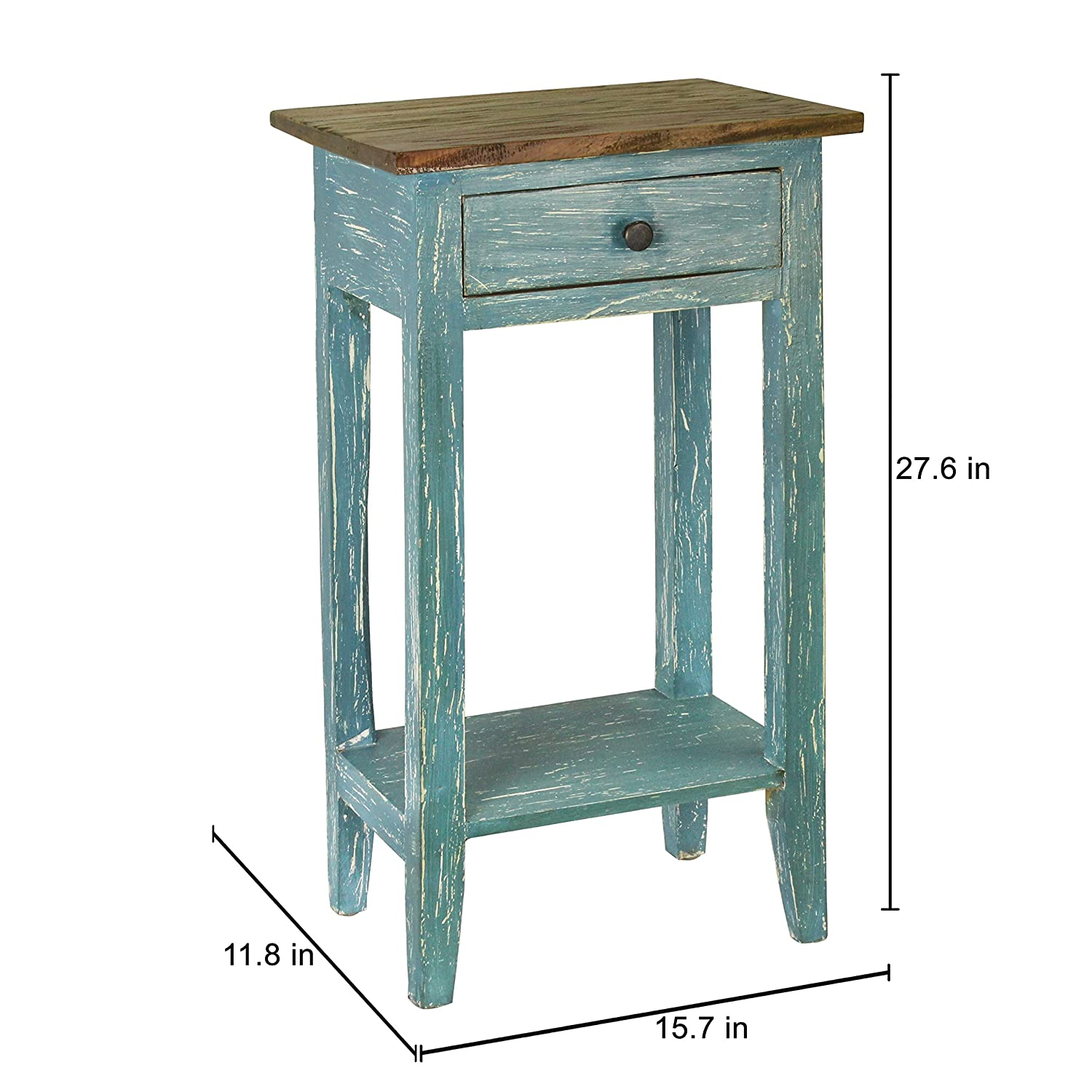 Amazon.com: Antique Revival Avignon Side Table, Blue: Kitchen & Dining